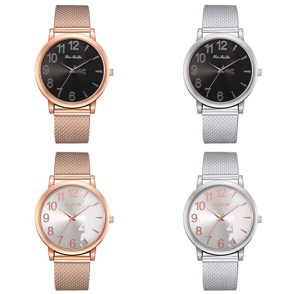 New Fashion Women Wristwatch Silver Stainless Steel Relogio Feminino Ladies Business Formal Clock Rosefield Watch Dress 2018