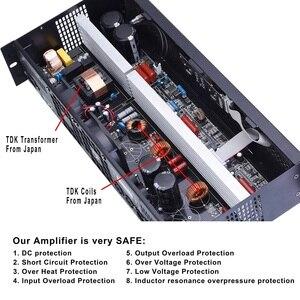 Image 4 - Amplificador de potência profissional mosfet, 2 canais, classe d, 400w, 8ohm, festa digital amp