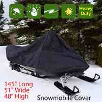Snowmobile Cover Waterproof Dust Trailerable Sled Cover Storage Anti-UV All-Purpose Cover Winter Motorcyle Outdoor 368*130*121cm