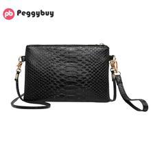 Hot sale new alligator Mini shoulder bag ladies leather clut