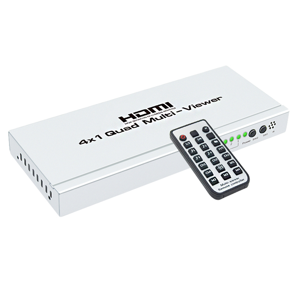 HOT 4K HUB Switcher 4x1 Quad Multi viewer High Definition Screen Segmentation Seamless Switching Output Switch