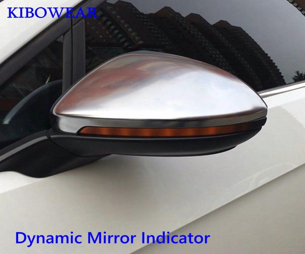 MK7 Kibowear para VW Golf 7.5 GTI R GTD 7 Dinâmica Blinker Sinal da Volta LEVOU Para Volkswagen Rline Sportsvan Touran espelho lateral Luz