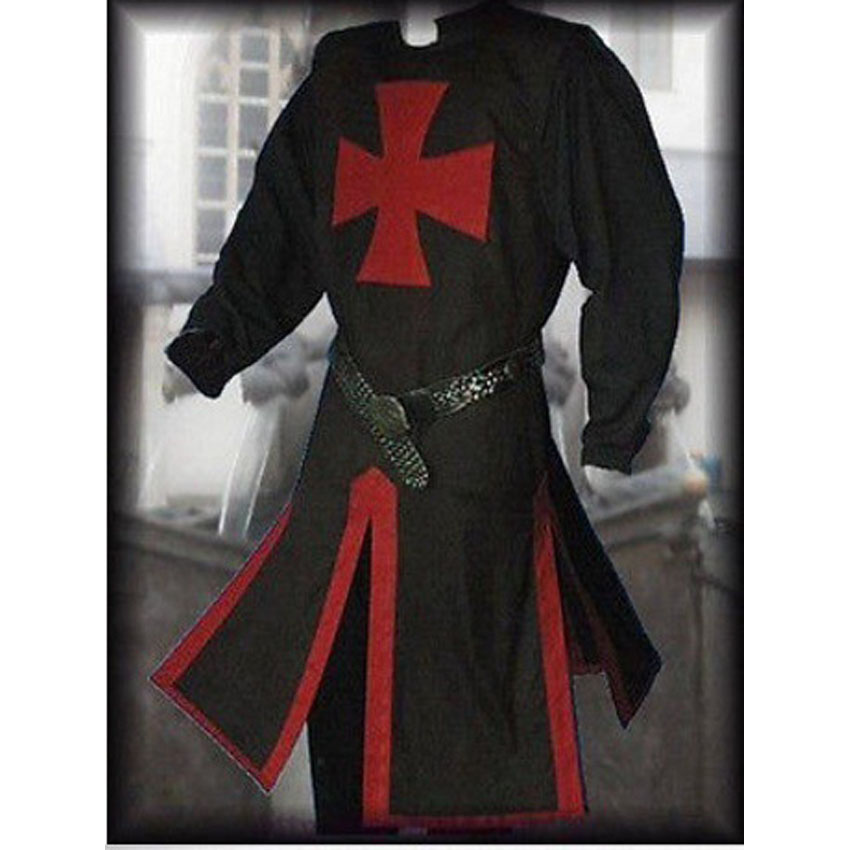 Middle Ages Renaissance Gothic Style Man Medieval Knight Cosplay Costumes Split Slim Tops Full Sleeve Purim Masquerade Wear