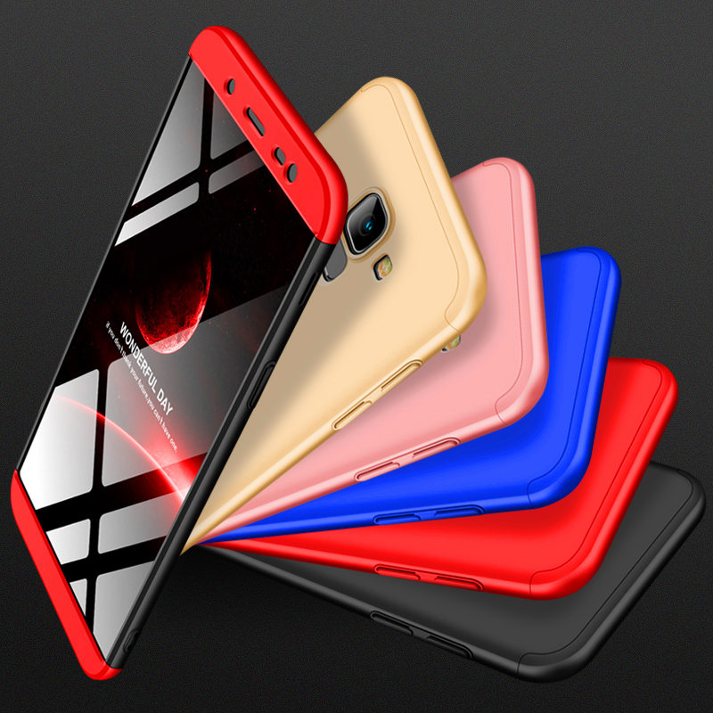 Fo Samsung J6 2018 Case J600F 360 Degree Full Protection Hard Case For Samsung Galaxy J4 J8 2018 J400F J810F Shockproof cover in Fitted Cases from Cellphones Telecommunications