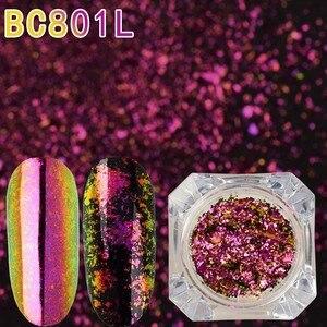 Image 3 - Beauty bigbang poudre pour ongles pailletée à effet caméléon, 2 pièces, effet miroir, Pigment chromé, nail Art, 0.1g