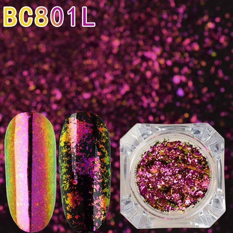 Image 3 - BeautyBigBang 0.1g Chameleon Effect Flake Nails Accessories Sequins Mirror Powder Chrome Pigment Paillette Glitter for Nails Art-in Nail Glitter from Beauty & Health