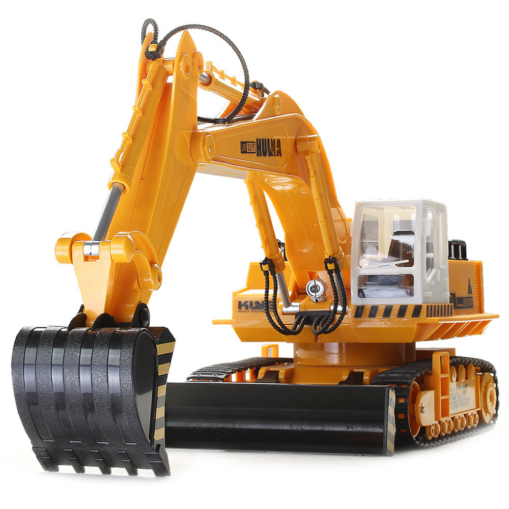 HUI NA TOYS 310 RC Cars 11 Channel Wireless Remote Control Excavator Toy Supports Multiplayer Excavators Control 30 Meters New