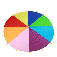 2M/3M/3.6M/7M Diameter Outdoor Rainbow Umbrella Toy Colorful Jump-Sack Play Teamwork Game Educational For Kids Gift