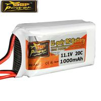 LeadingStar перезаряжаемый ZOP power 3 S 11,1 V 1000 MAH 20C Lipo battery JST Plug