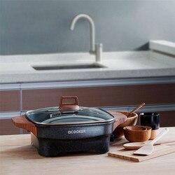QCOOKER 4L Multi-functional Household Electric Hot Pot Multicooker Food Grade Fried Steak Non-stick Coating Hot Pot