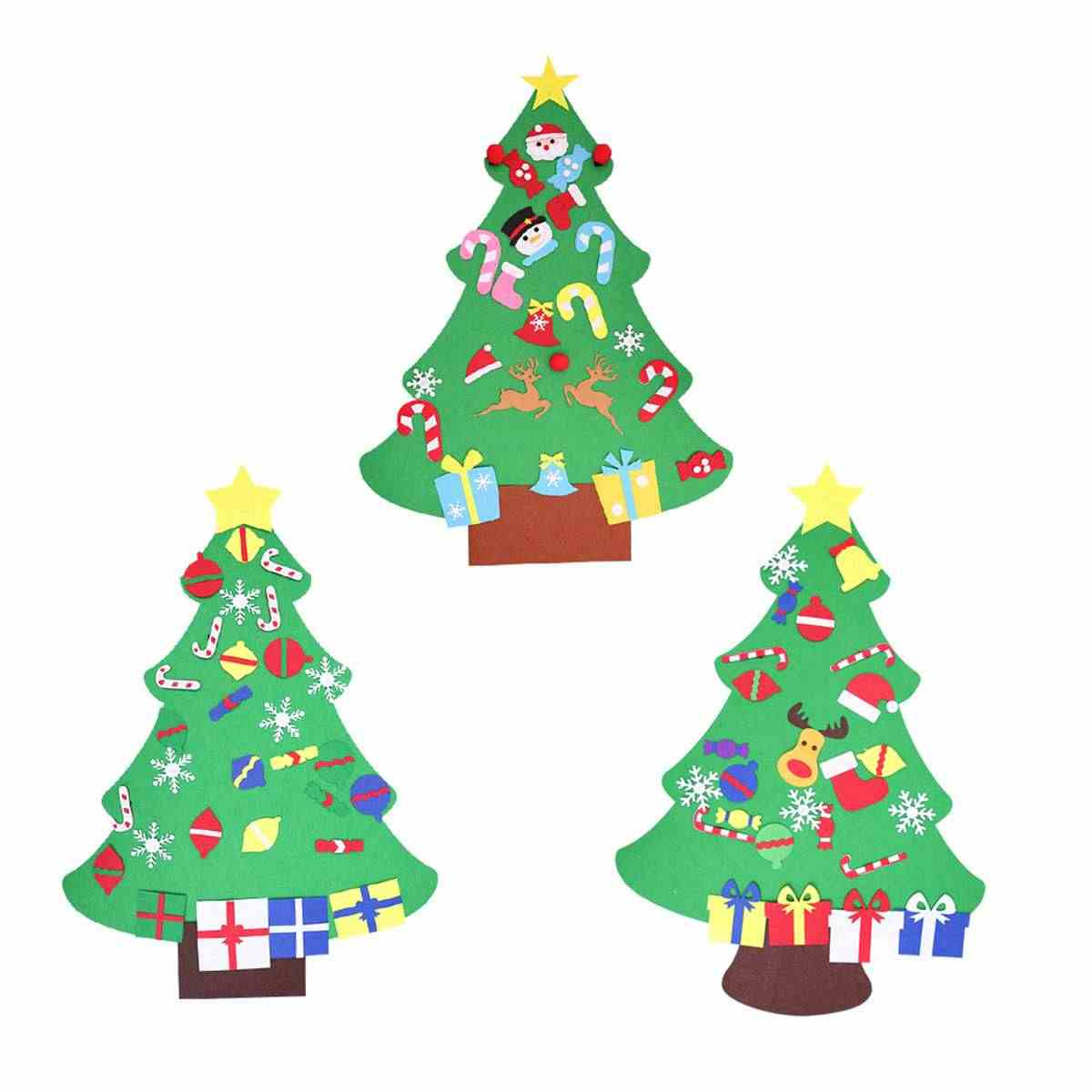 Toddler Christmas Tree Craft.100cm Diy Christmas Deluxe Felt Tree Wall Hanging Toddler Child Preschool Craft Decorations Gift