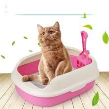 Portable Cat Litter Bowl  Dog Tray Toilet Supply Teddy Anti-Splash Pet Toilette Puppy Indoor Home Plastic Sandbox