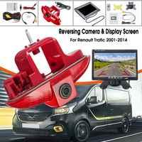 CCD HD LED Auto coche 7 Monitor cámara de visión trasera visión nocturna inversa para Renault Trafic 2001-2014 Trafic Vauxhall vivara