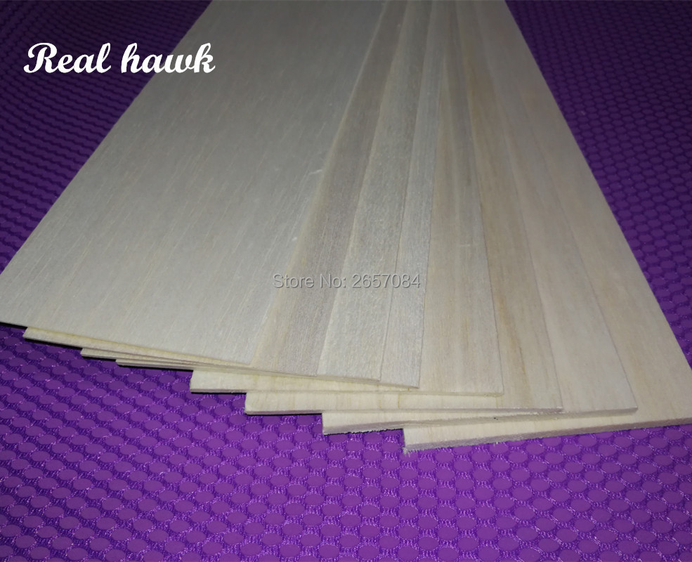 10pcs 500x100x0.75/1/1.5/2/2.5/3/4/5mm EXCELLENT QUALITY Model Balsa Wood Sheets For DIY Airplane Boat Model Material