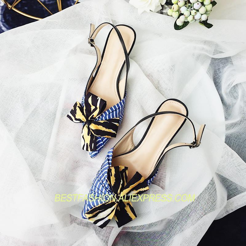 Décontractés Cheville Designer Pour Talons Chaussures Hot Pic Med Soirée Arc Femme Pompes Grand Escarpins Strap Spring noeud As Summer De ppwv6