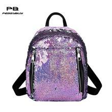 Mujeres lentejuelas mochilas para chicas adolescentes de la escuela bolsas  Bling bolsa de hombro para las mujeres 2019 Mochila F.. 4d0f5d5532375
