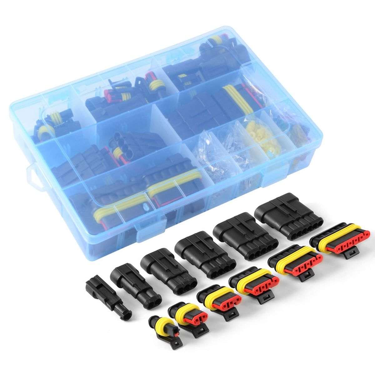 1-6 Pin Way Car Electrical Wire Waterproof Connector Plug Terminal Fuse Case Kit1-6 Pin Way Car Electrical Wire Waterproof Connector Plug Terminal Fuse Case Kit