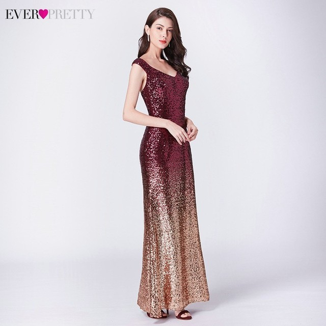 Sexy Prom Dresses Ever Pretty V-Neck Mermaid Sleeveless Sequined Spaghetti Strap EB29998 Gowns for Party Vestidos de Gala 2020 4