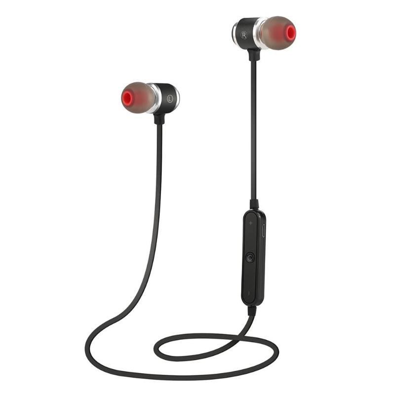 ALLOYSEED Magnetic Adsorption Wireless Bluetooth Earphones Stereo Sport Bluetooth Headphones Headset For iPhone Samsung Xiaomi