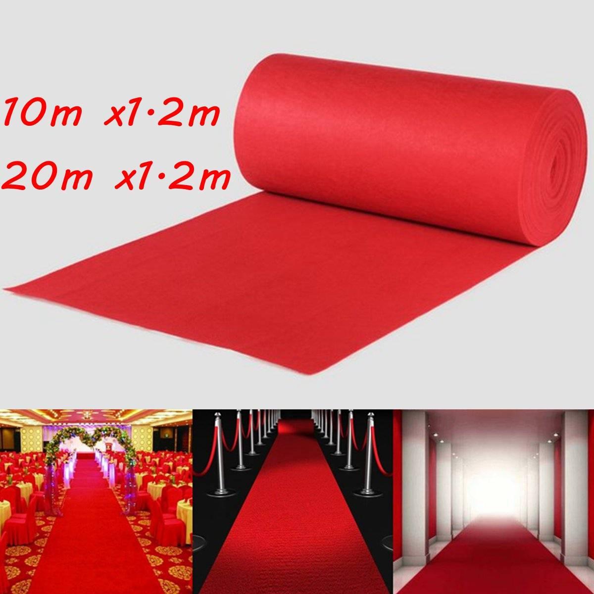 10/20M Wedding Aisle Floor Runner Carpet Polyester Large Red Carpet Rug Hollywood Awards Events Wedding Events Decoration