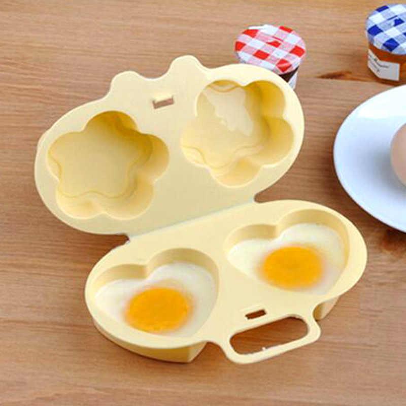 Lò vi sóng Hấp Trứng Đồ Dùng Hai-Side Tình Yêu Hoa Gà Hấp Gà Trứng Mãng Cầu Khuôn Phụ Kiện Nhà Bếp