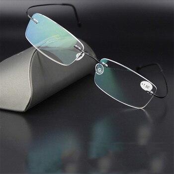 Zilead האולטרה קריאה נטולות מסגרת משקפיים נירוסטה Prebyopia משקפיים רוחק משקפיים עבור גברים & נשים לשני המינים