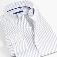 Smart Five Dress Shirts Striped Men Shirts 5xl Cotton Long Sleeve Formal Shirts For Men Office Business Camisa Masculina