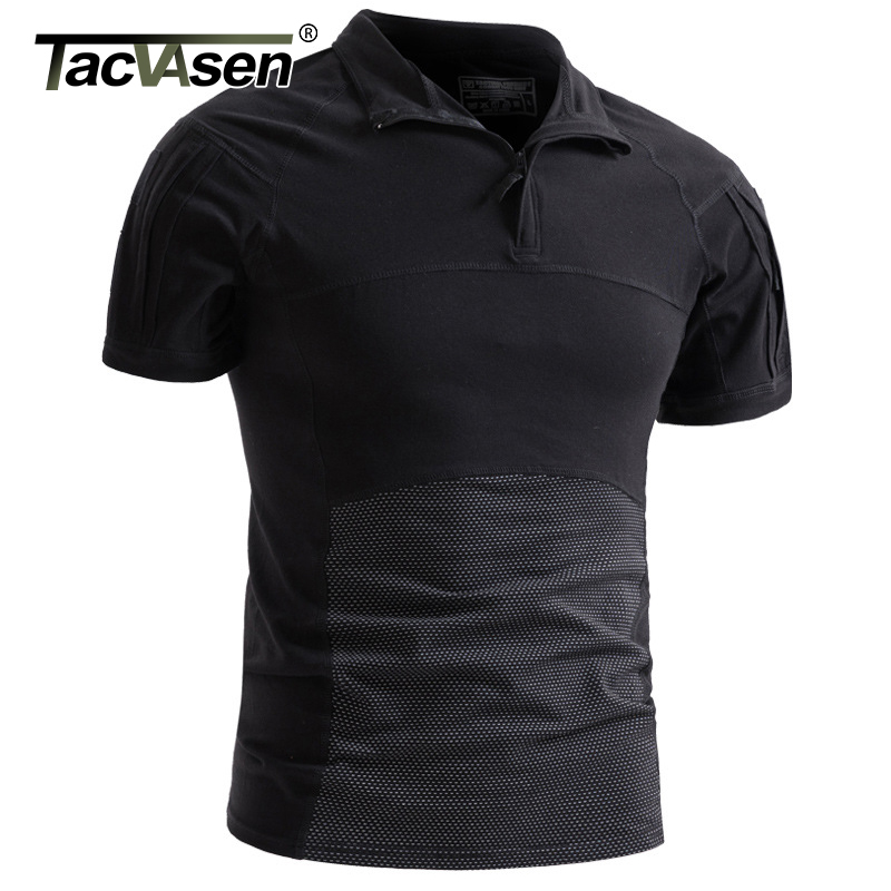 TACVASEN Men Camouflage Tactical T-shirts S…