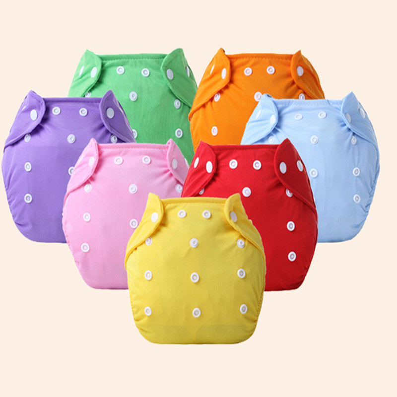 1Pcs Cute Baby Diapers Reusable Nappies Cloth Diaper Washable Infants Children Baby Cotton Pants Panties Nappy Changing-25