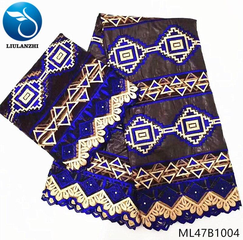 LIULANZHI bazin coton tissu jacquard brocart tissu avec dentelle tissus pour nappes patchwork dernières 7 yards/lot ML47B10
