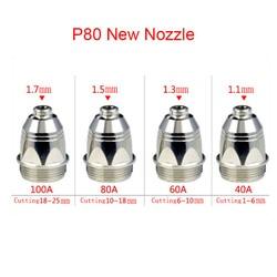 Durable 100 piezas P80 inversor cortador de Plasma de corte pistola de Plasma consumibles antorcha de corte accesorios puntas de boquilla de electrodo CNC 100PK