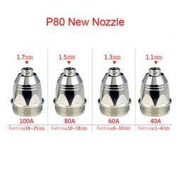 Durable 100pcs P80 Inverte Plasma Cutter Cutting Gun Plasma Consumable Cutting Torch Accessories Nozzle Tips Electrode CNC 100PK