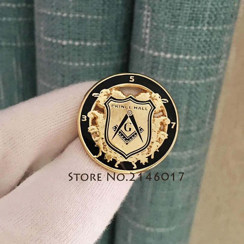 Freemasonry Souvenir Badges Free Masons Metal Masonic Lapel Pin Square and  Compass G Pins Brooch PRINCE HALL Badge Craft Gifts