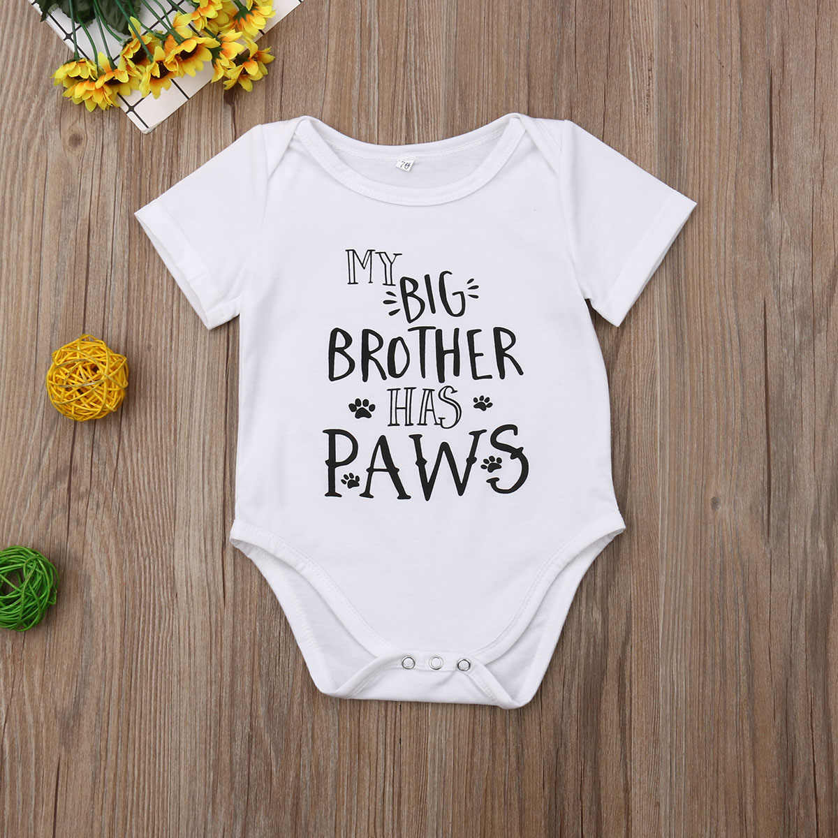 2019 Baby Summer Clothing Cue Infant Baby Boy Girl Bodysuit Letter Print Short Sleeve White Jumpsuit Clothes Match Outfits 0-18M