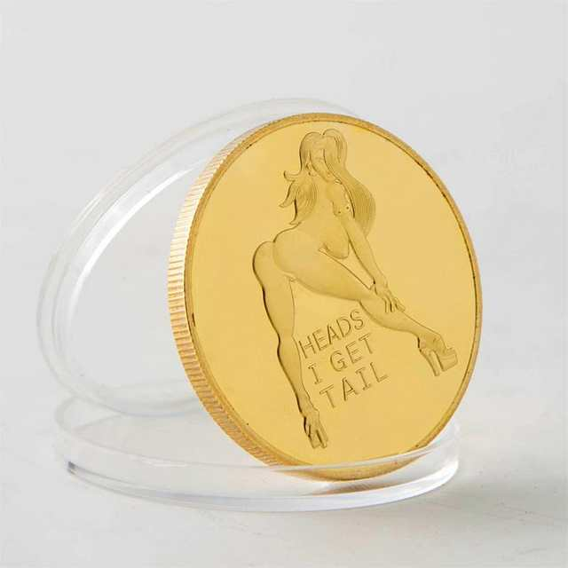 US $1 74 17% OFF|Head And Tail Hit Luck Models Russian Sexy Girl Gold  plated Commemorative Coins-in Non-currency Coins from Home & Garden on