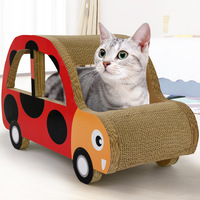 Corrugated cat tree hole car school bus seven star ladybug beetle cat grab board cat scratcher tunnel cat toys interactive