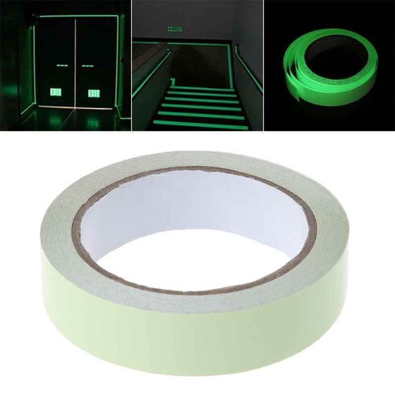 1cm*3m Reflective Tape Car Stickers DIY Light Luminous Warning Glow Dark Night Tapes Safety Auto Home Styling Accessories Goods
