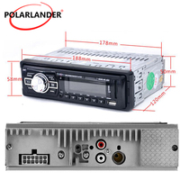 1 Din LED / LCD Display 12V FM SD USB AUX IN MP3 Player Remote Control Auto Stereo MP3 Player Car Radio Player Vehicle Audio