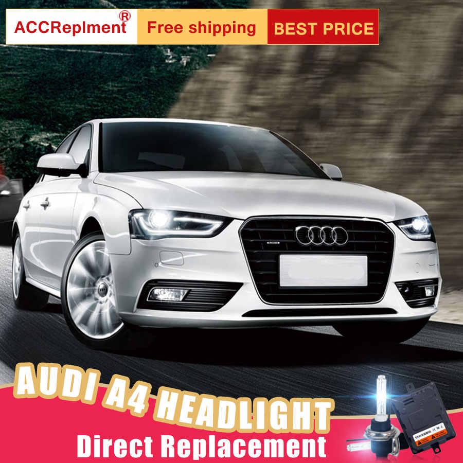 2Pcs LED Headlights For Audi A4 2013-2016 led car lights Angel eyes xenon  HID KIT Fog lights LED Daytime Running Lights