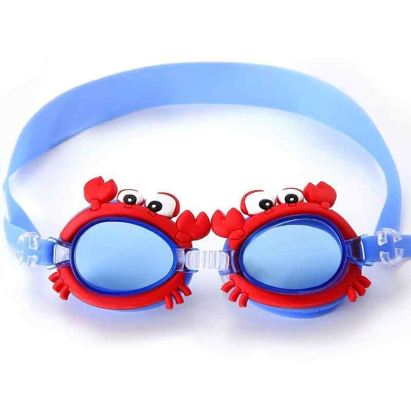Zwembril Voor Kinderen Leuke Cartoon Anti Fog Zwemmen Bril Kids Duiken Surfen Bril Jongen Meisje Verminder Glare Eyewear