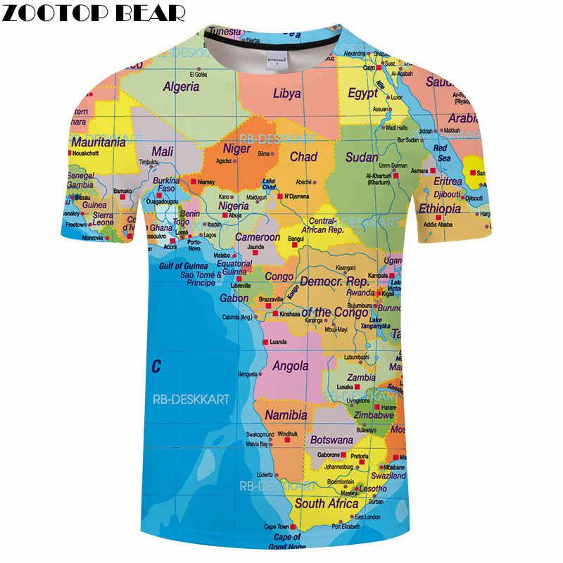 Nigeria Bản Đồ Áo Du Lịch In Nam Kỳ Nghỉ Áo Thun 3D Áo Tee Ngộ Nghĩnh Nữ Tay Ngắn Áo Sơ Mi 6XL Dạo Phố Trang Sức Giọt Zootopbear