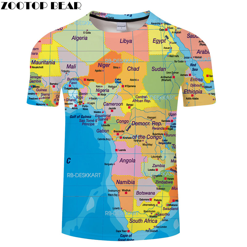 Nigeria Map t shirt Travel tshirt Men Vacation t-shirt 3D Tops Tees Funny Short Sleeve Shirts 6XL Streetwear Dropship ZOOTOPBEAR