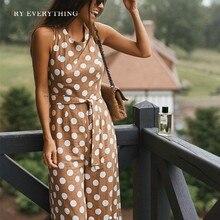 Polka Dot Casual Jumpsuit Women Summer 2019 Fashion Sleeveless Long Jumpsuit Female Tunic Pants Playsuit Rompers Womens Jumpsuit