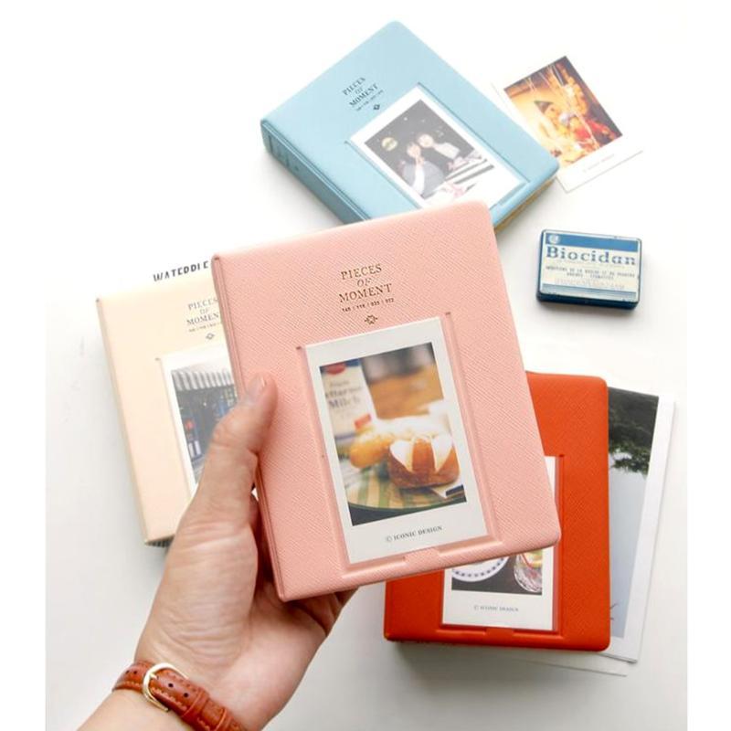 64 кармана пвх альбом чехол для хранения Polaroid фото FujiFilm Instax Мини пленка фото Кредитная карта Книга для хранения случайный цвет