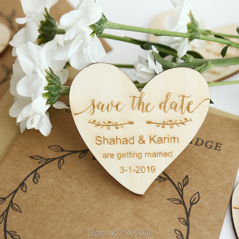 Us 5 75 27 Off Custom Wedding Save The Date Magnets Personalized Invitation Rustic Magnet Set Favor In Party Favors From