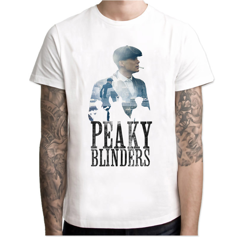 Peaky Blinders Hot Sale 2019 Men Hipster T-Shirt Short Sleeve Casual Short Sleeve Tee Fashion Cool Tops Men T Shirts Streetwear