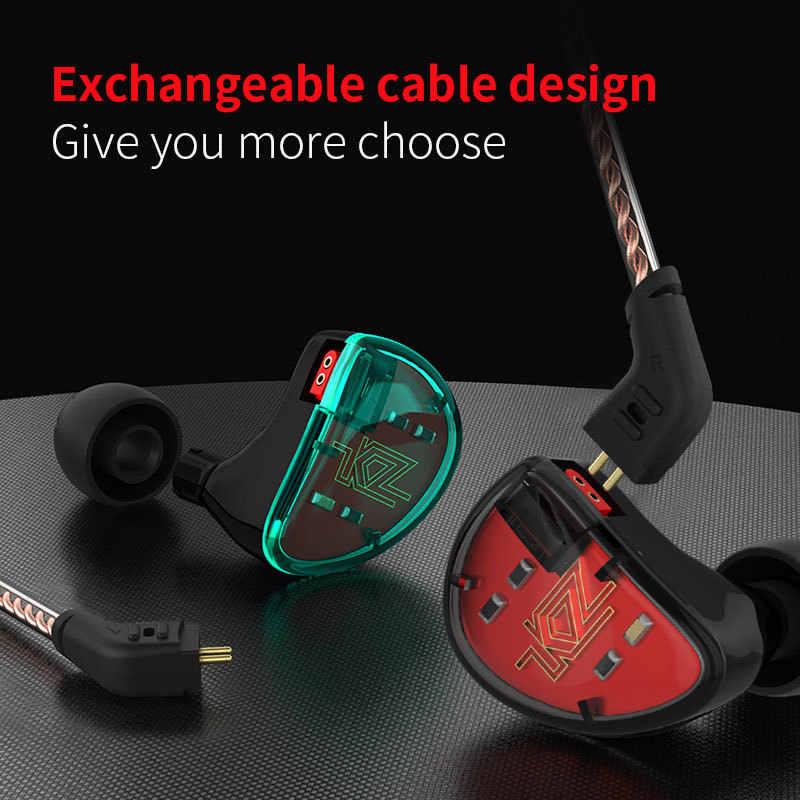 KZ As10 5BA + 5BA do telefonów i muzyki z redukcją szumów sportowe dynamiczny hybrydowy 5 wyważone armatura kierowcy monitora słuchawki