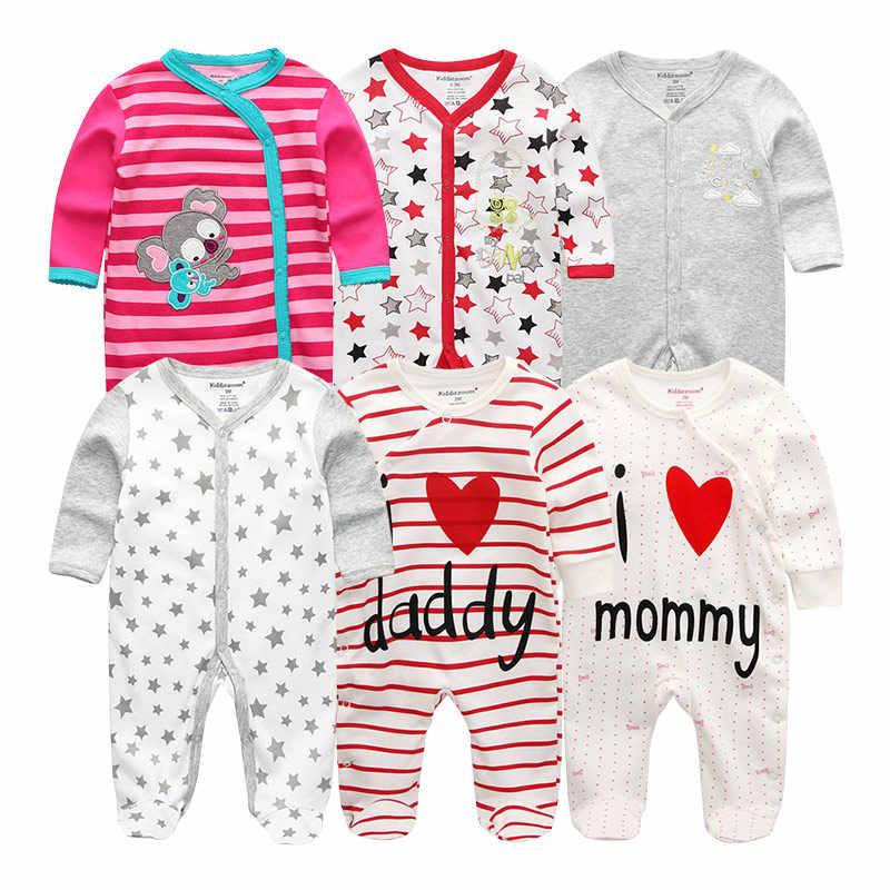 Одежда для новорожденных, зимний комбинезон с длинными рукавами для детей 12 месяцев, хлопковый комбинезон для маленьких девочек, Модный комбинезон для мальчиков, костюм и Пижама