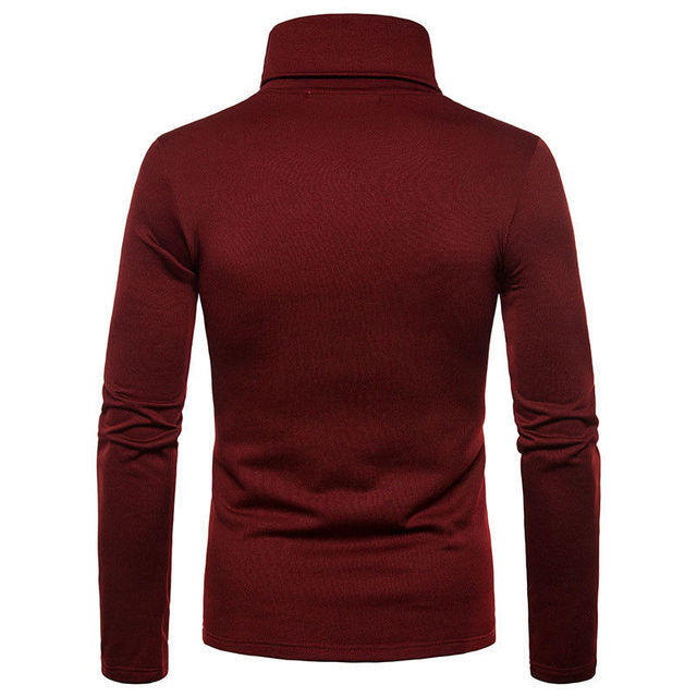 Slim Fit Knitted Pullover Turtleneck Casual Sweater 3