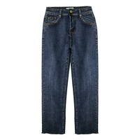 Spring Summer Vintage Blue Boyfriend Jeans For Women High Waist Denim Jeans Slim Flare Jeans Woman Denim Pants